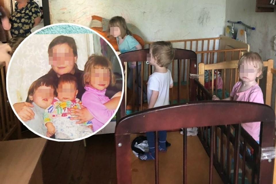 В многодетной семье 10 детей, но с мамой живут только 8, старшие дочки ушли от нее к бабушке. Фото: Анна ТАЖЕЕВА