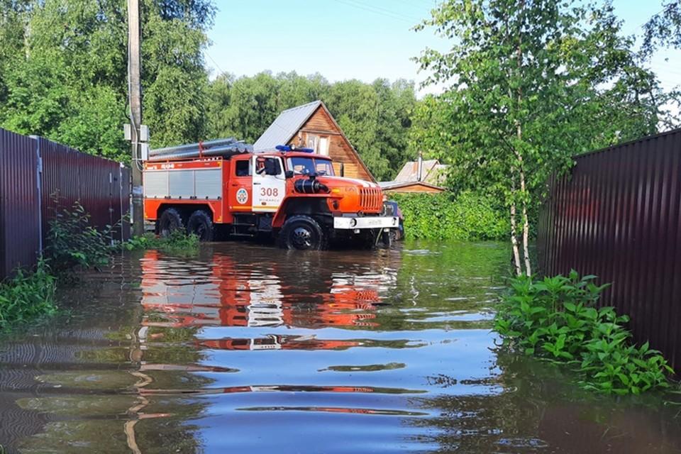 Затоплены 178 приусадебных участков. Фото: Дмитрий Абаренов