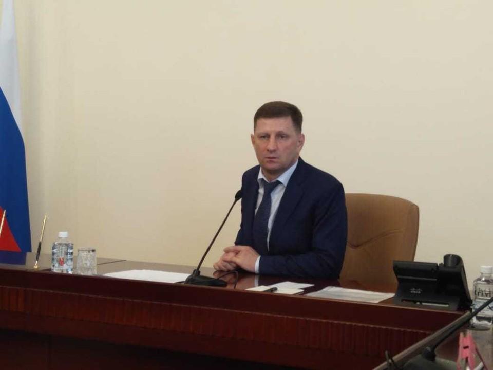Сергей Фургал - губернатор Хабаровского края