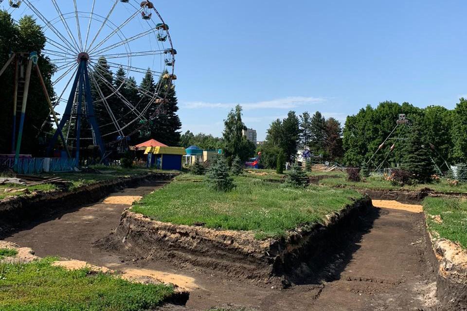 В Липецке благоустраивают парки