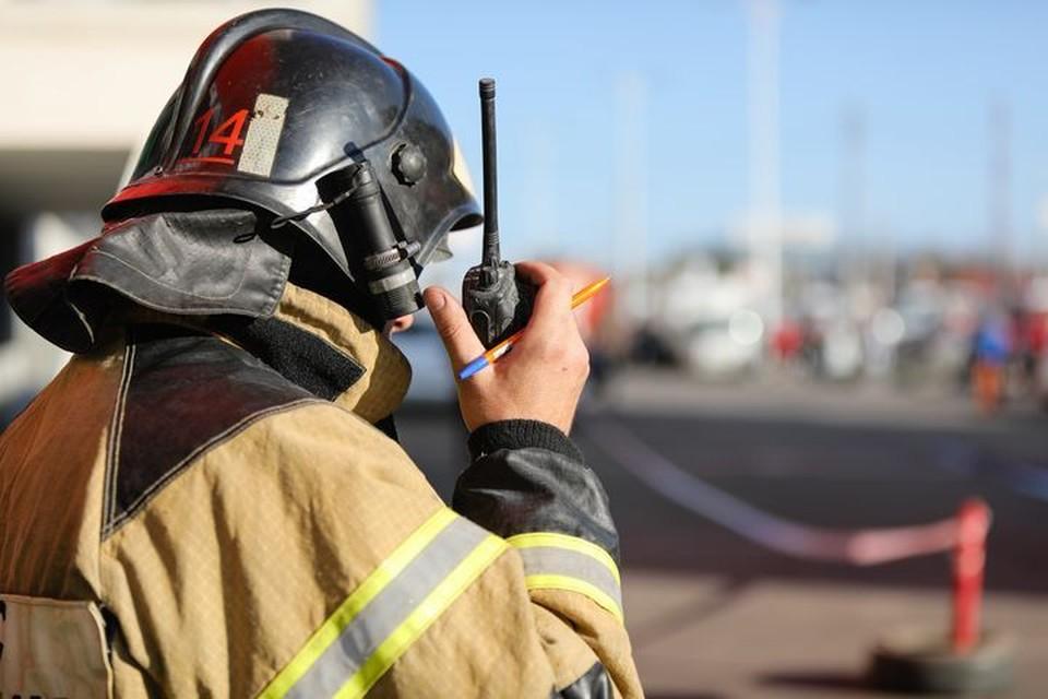 На пожаре спасли двоих детей из горящего дома.