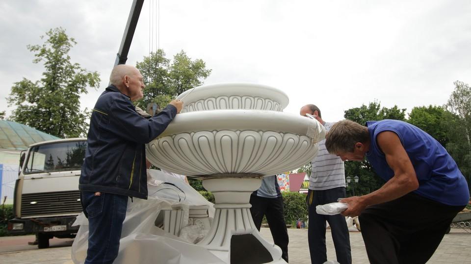 Ранее в парке культуры уже был фонтан, но большинство деталей вышли из строя