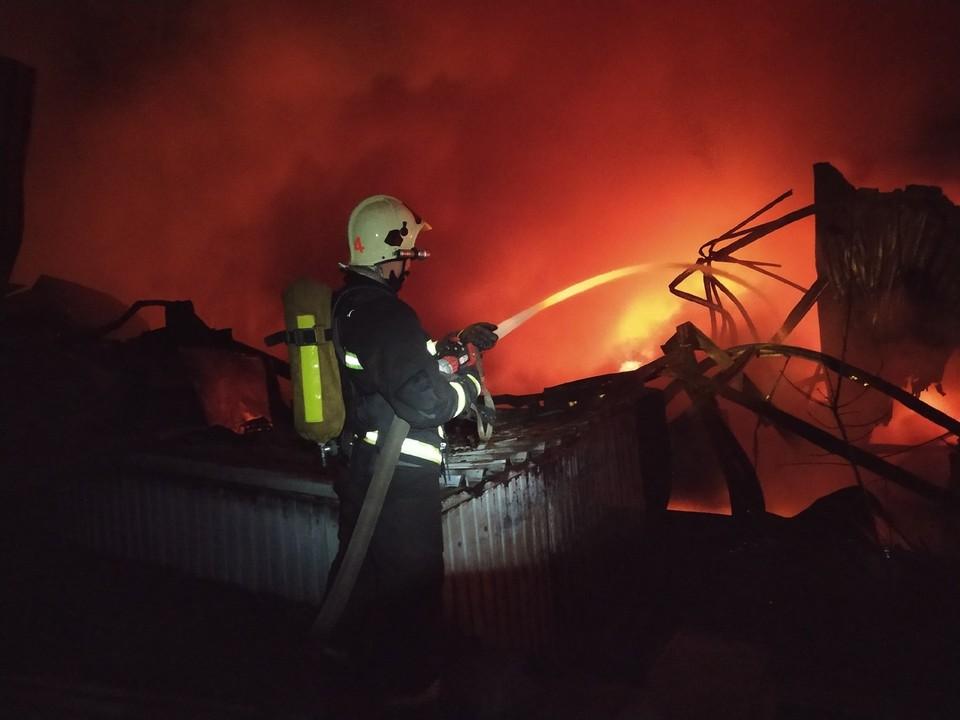 Пожар полыхал двое суток. Фото: ПСО