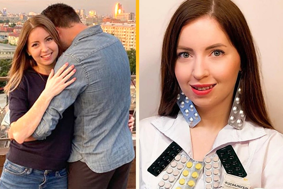 Печально прославившийся блогер Екатерина Диденко в объятиях мужчины.