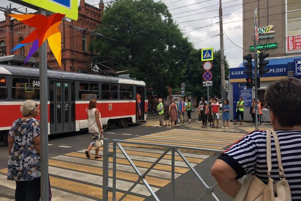 Завести трамвай удалось буквально «с толкача».