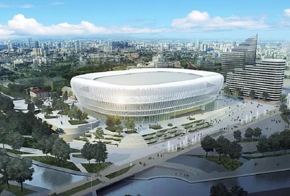 Ледовая арена строится силами государства и частного холдинга. Фото: проектная документация