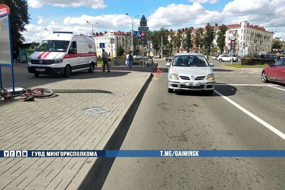 В Минске автомобиль сбил 16-летнего мальчика. Фото: Телеграм-канал УГАИ ГУВД Мингорисполкома