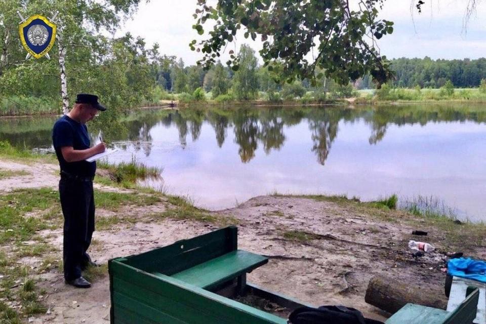 В Столинском районе парень решил искупаться на территории каррьера и утонул. Фото: Телеграм-канал СК Беларуси