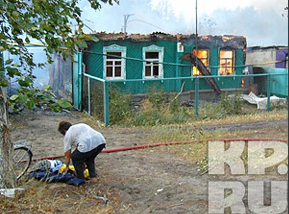 В микрорайоне Масловка сгорела целая улица в 40 домов