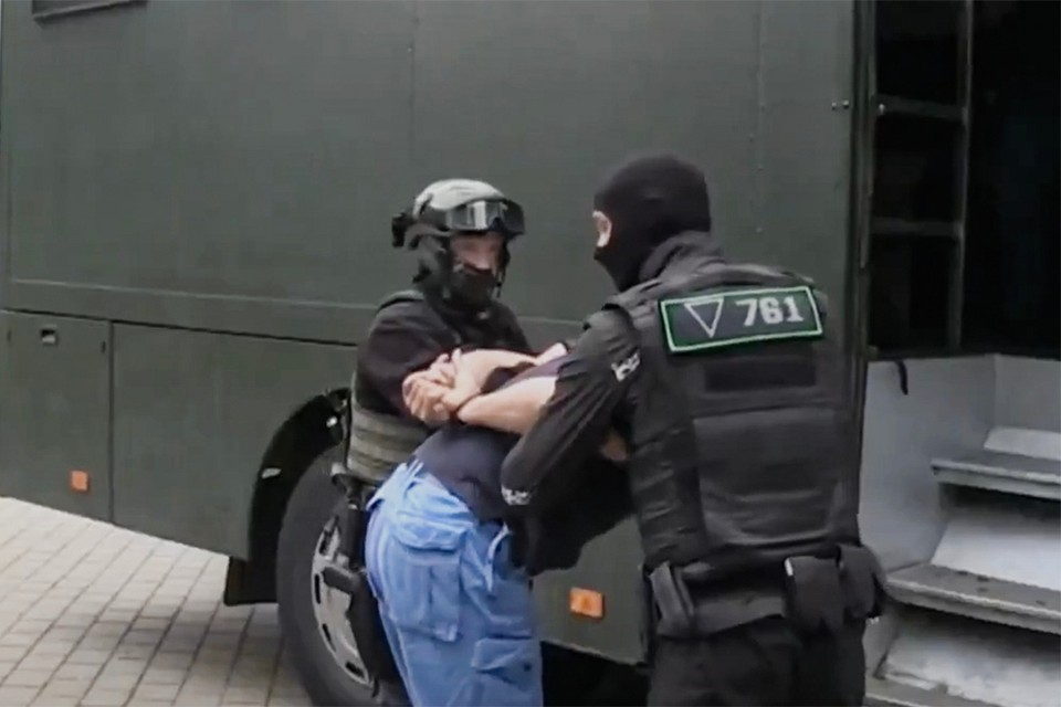 В Кремле прокомментировали задержание россиян в Беларуси. Фото: скриншот из видеосюжета «Беларусь 1»