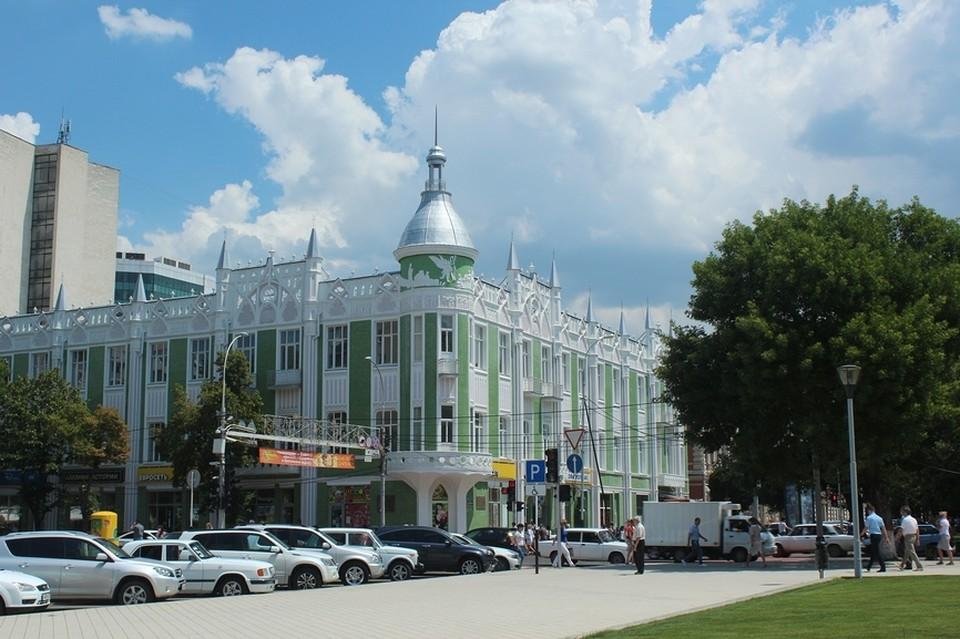 "Здесь была гостиница ""Централь"". Фото: https://localway.ru/krasnodar/poi/zdanie_byvshey_gostinitsy_tsentral_312259"