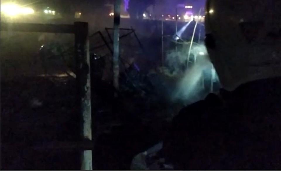 Последствия взрыва в Динском районе