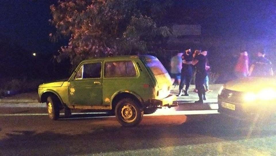 Водитель скрылся с места аварии (Фото: Национальный инспекторат общественной безопасности).