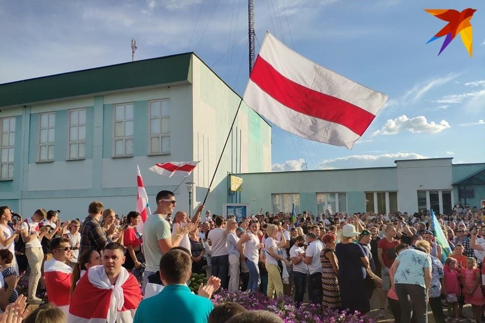 Около тысячи человек пришло на митинг в Березе.
