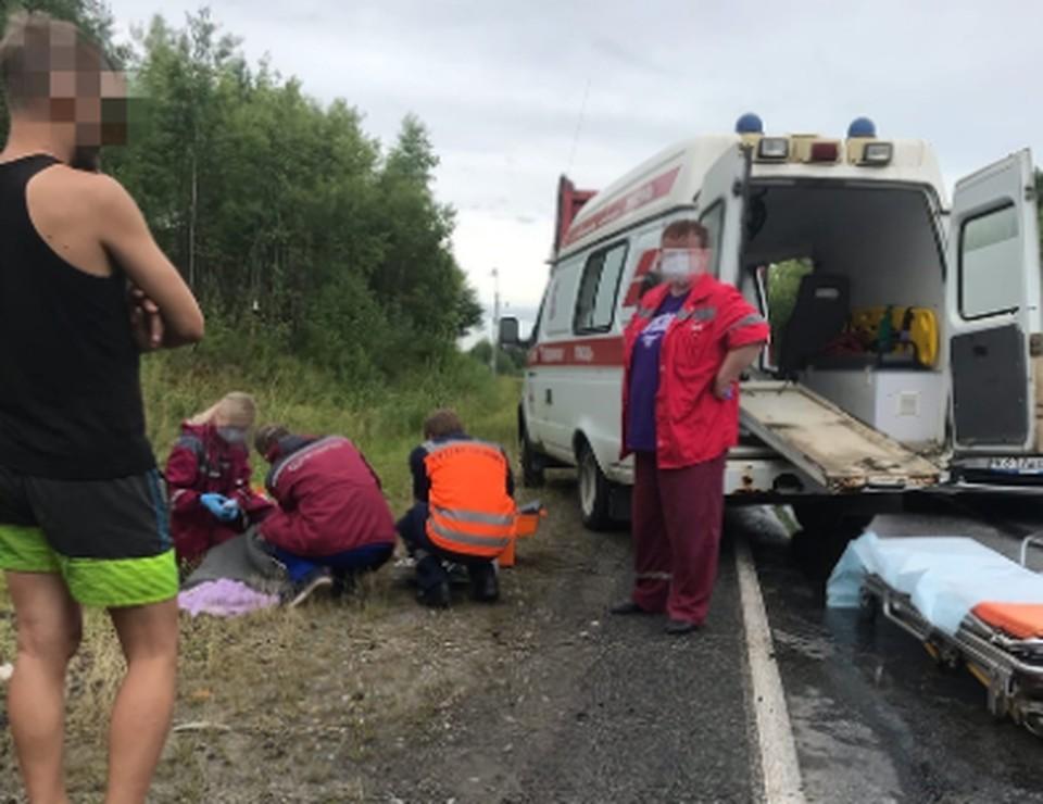 Авария произошла в среду, 4 августа, на трассе «Пермь-Березники». Фото предоставлено источником, знакомым с ситуацией