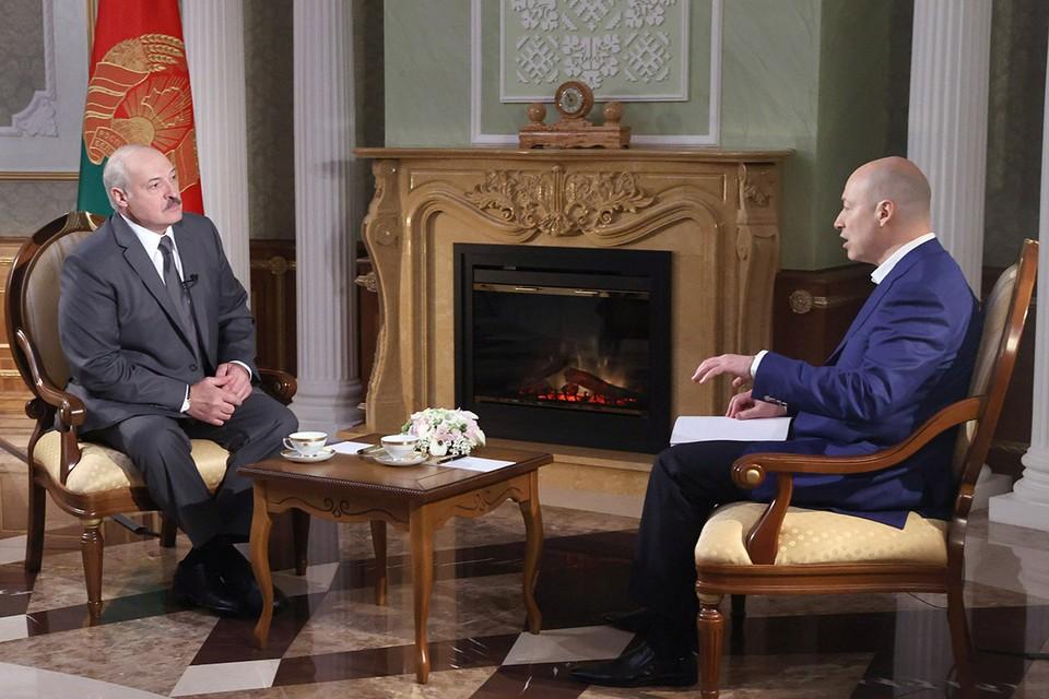 Вышел анонс интервью Александра Лукашенко украинскому журналисту Дмитрию Гордону. Фото: Николай Петров/БелТА/ТАСС