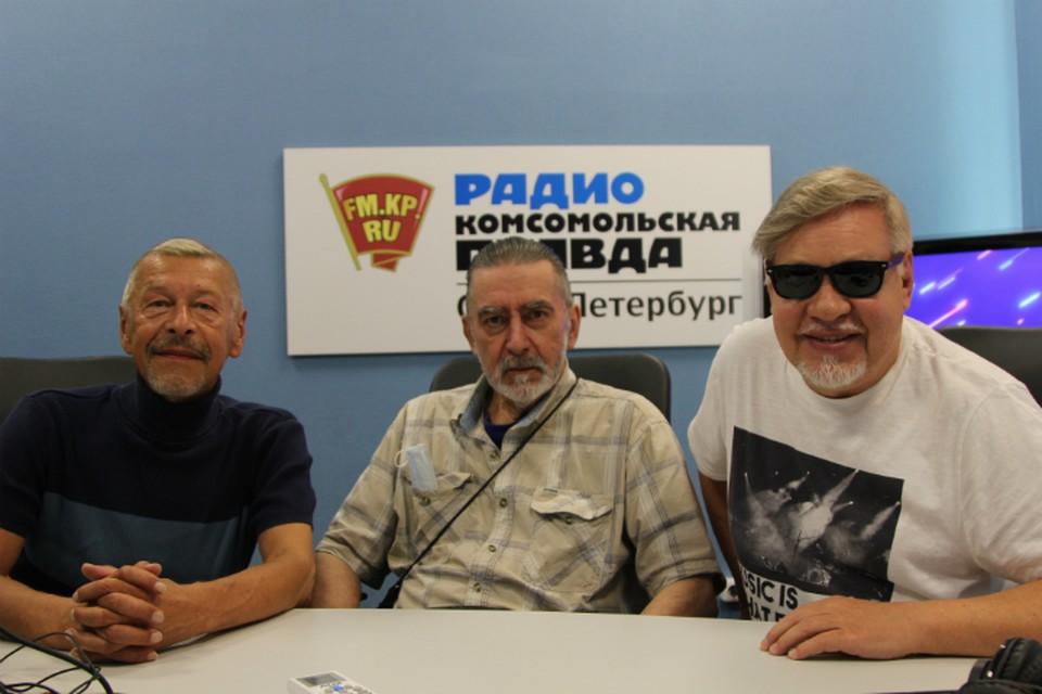 Александр Донских, Юрий Ильченко и Александр Семенов в студии радио «Комсомольская Правда в Петербурге», 92.0 FM