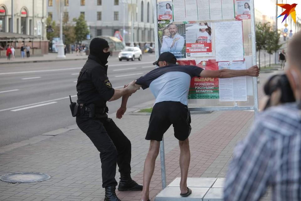 Задержания в Минске 8 августа.