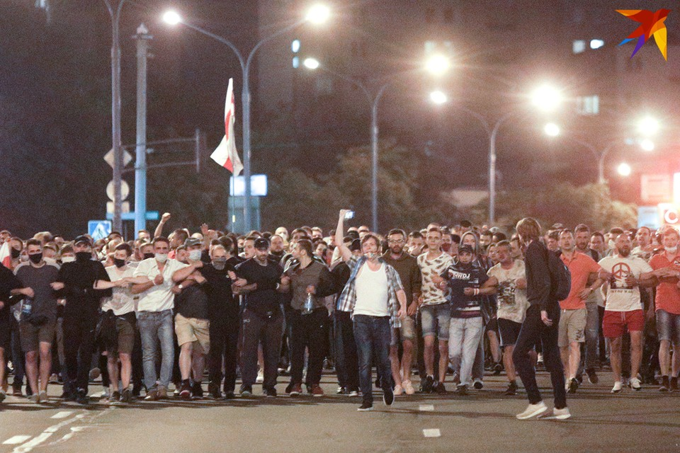 10 августа люди снова вышли на улицы в знак протеста