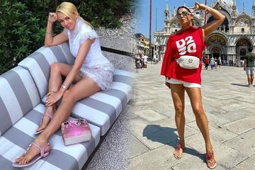 Ходченкова - в коротких шортах, Исакова - в чулках: знаменитости в соцсетях хвастаются стройными ножками