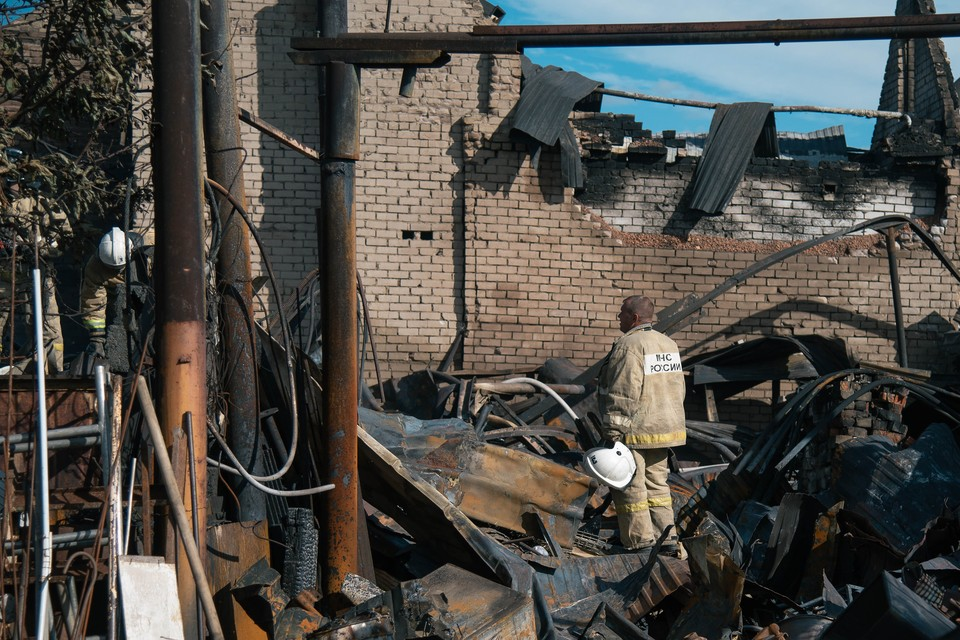 От многих домов после пожара ничего не осталось