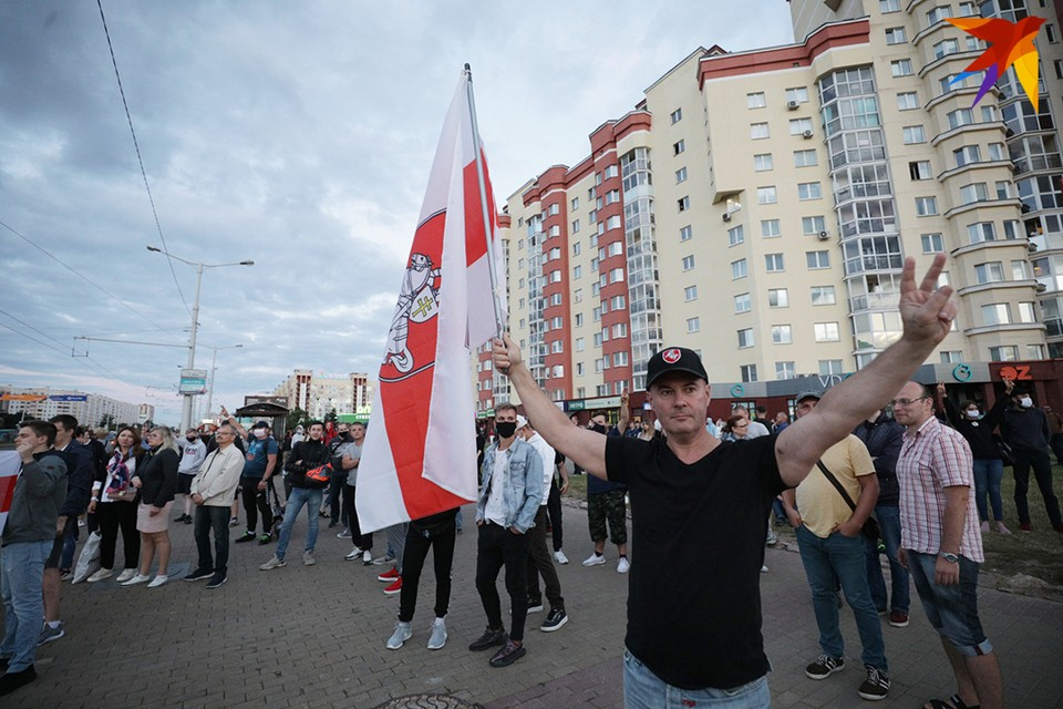 Протесты в Минске 11 августа 2020 года.