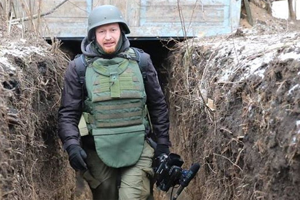 Военкор Семен Пегов в окопах Донбасса.