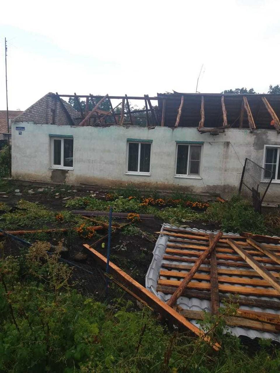 Несколько семей остались без крыши