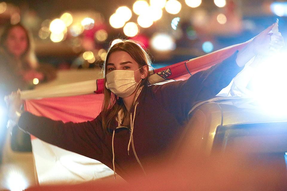 В четверг вечером протесты в Минске обошлись без пуль и взрывов.