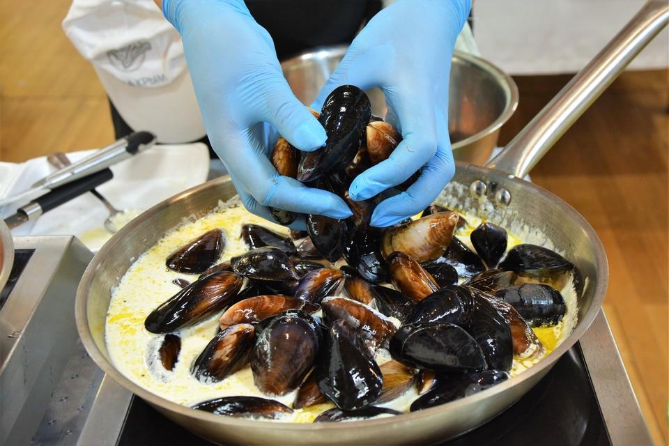 Среди популярных локальных продуктов Крыма - черноморские мидии