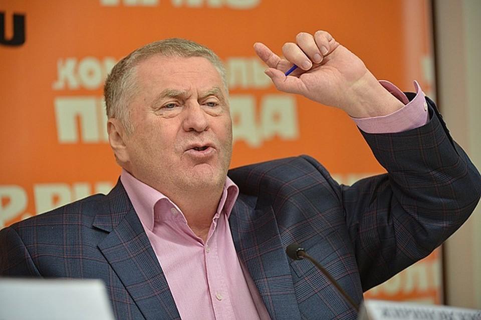 Лидер фракции ЛДПР Владимир Жириновский