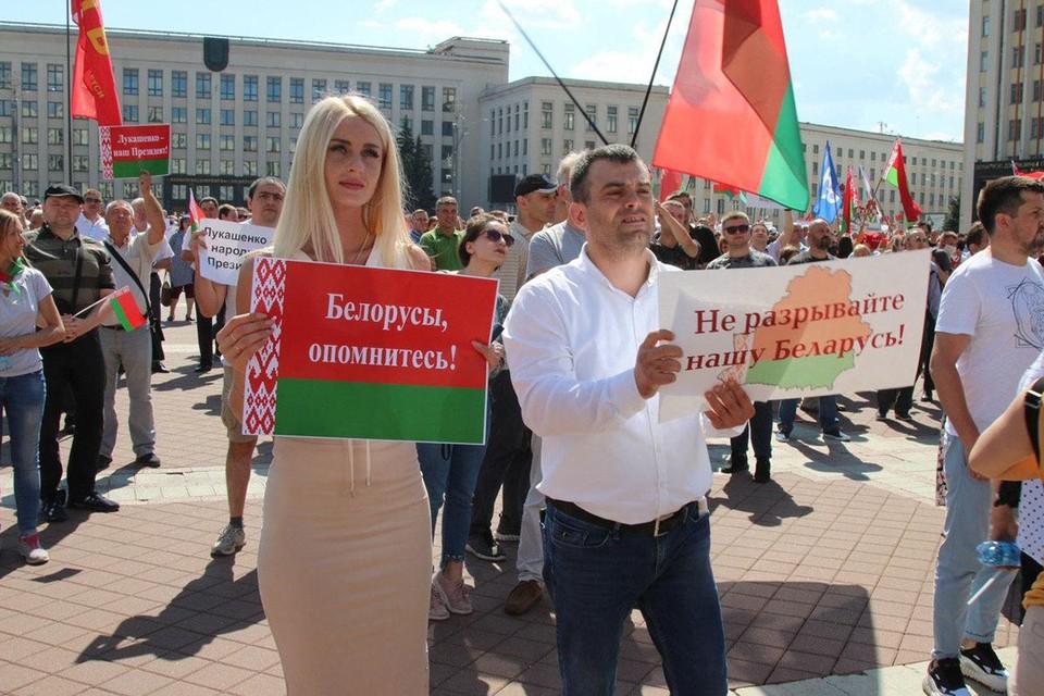 В Белоруссии 16 августа начался митинг в поддержку Александра Лукашенко