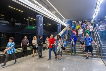Новая расцветка и львы в витринах: Как будет выглядеть и когда откроется станция метро «Зенит» в Санкт-Петербурге