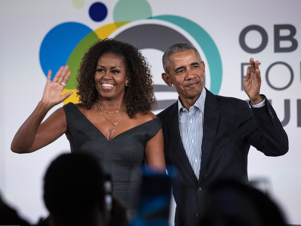 Барак Обама и его супруга Мишель Обама.