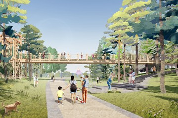 Зимой – каток, летом – плавучая сцена: Каким будет парк «Тучков буян» в Санкт-Петербурге