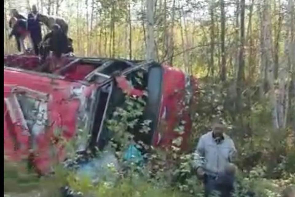 В Хабаровском крае перевернулся автобус с пассажирами ФОТО: прокуратура Хабаровского края