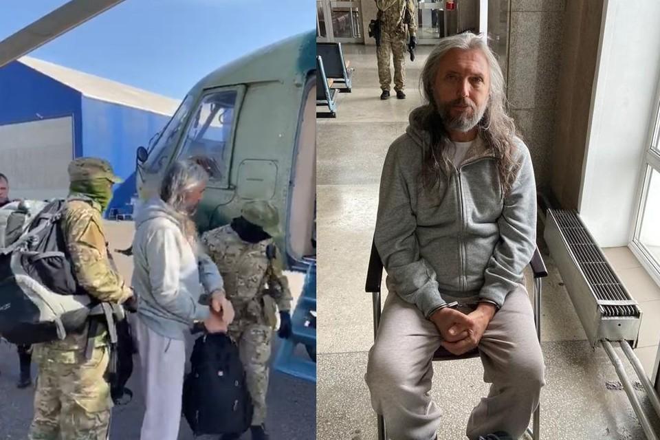 Задержание Виссариона: сначала его на вертолете из общины увезли в Красноярск. Затем на самолете перебросили в Новосибирск.