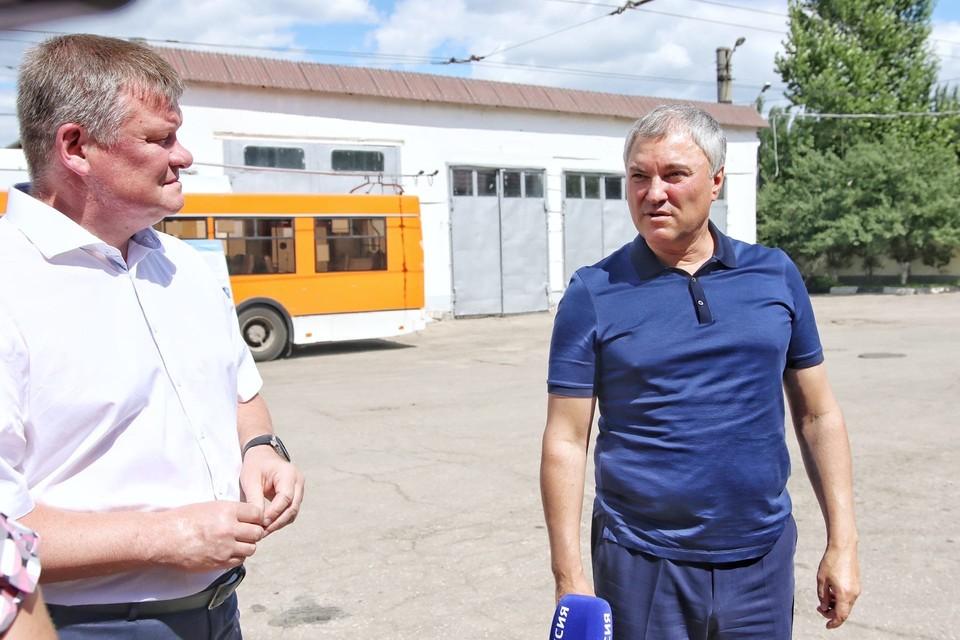 Председатель Госдумы Володин в ходе визита в Ленинское депо СГЭТ предложил повысить зарплаты работникам предприятия