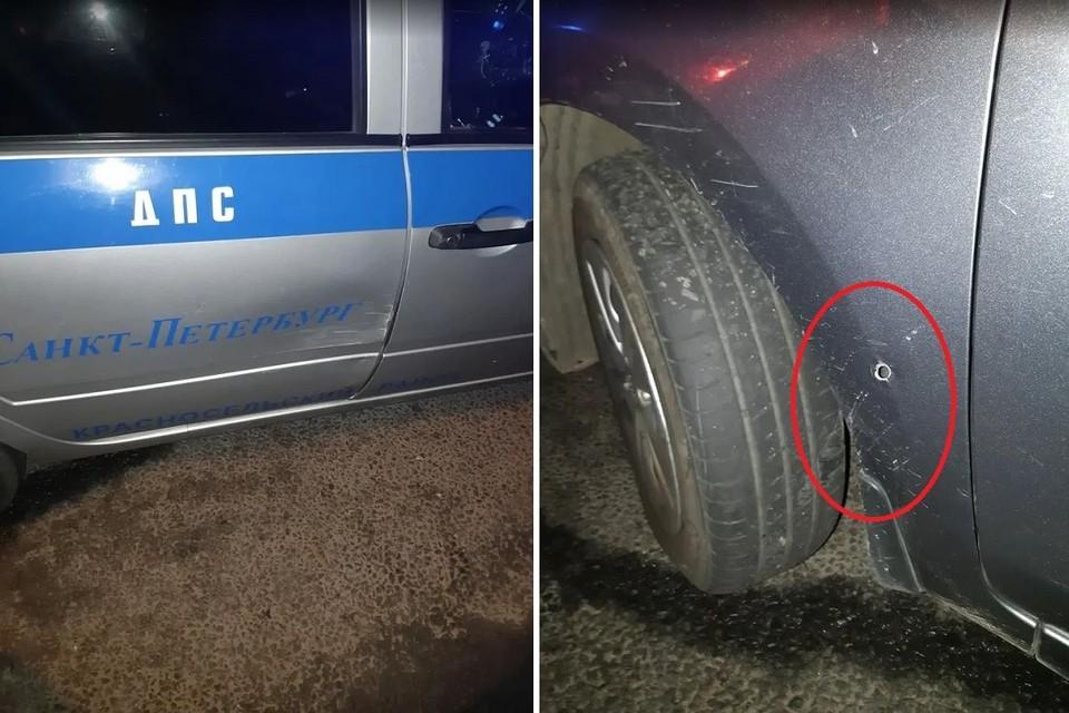 Полицейские со стрельбой остановили такси в Петербурге. Фото: ГУ МВД по СПб и ЛО