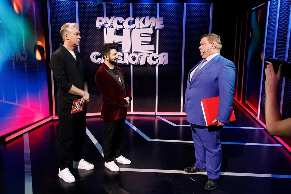 Во втором сезоне в гости в Светлакову и Галустяну заглянут и звездные участники - например - экс-капитан команды КВН «СОК» Дмитрий Колчин (справа)