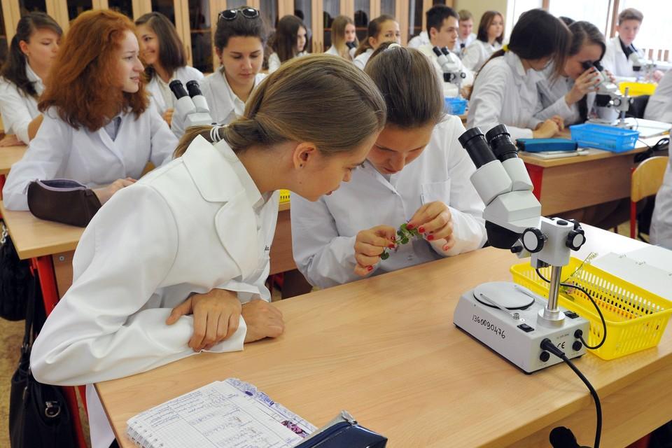 Не во всех школах уроки биологии проходят так тихо