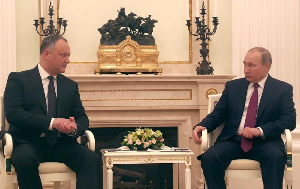 Важно: Президент России Путин проведет переговоры с молдавским коллегой - Додоном