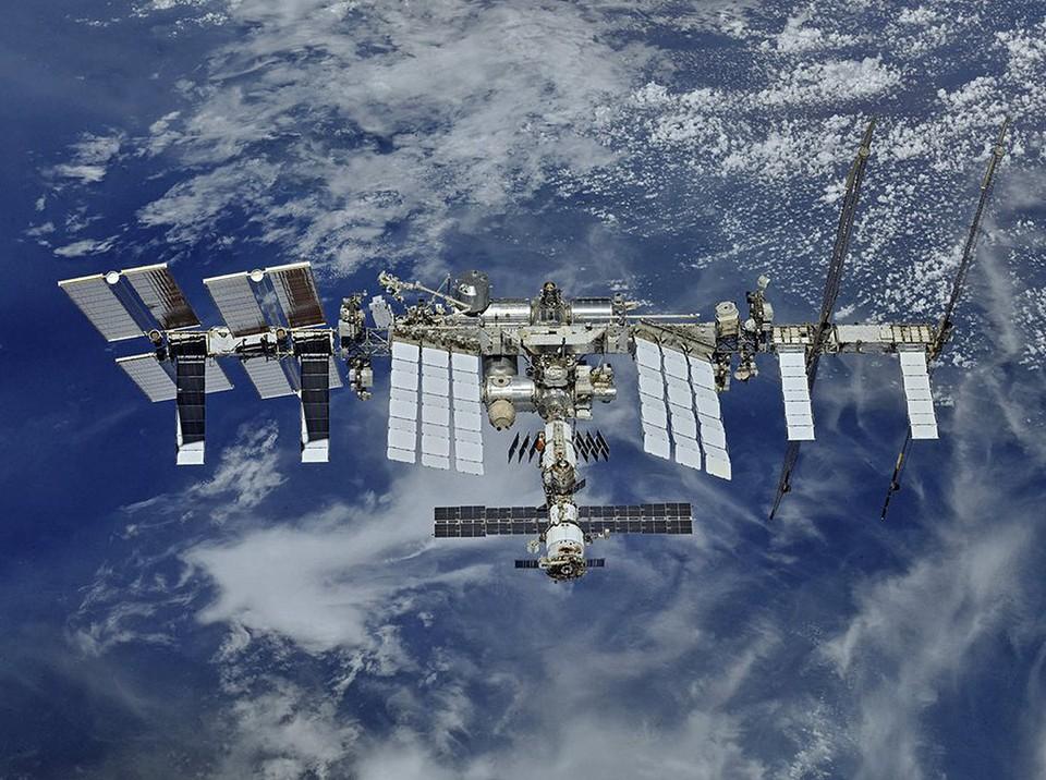 Вид на Международную космическую станцию, снимок июля 2020 г.