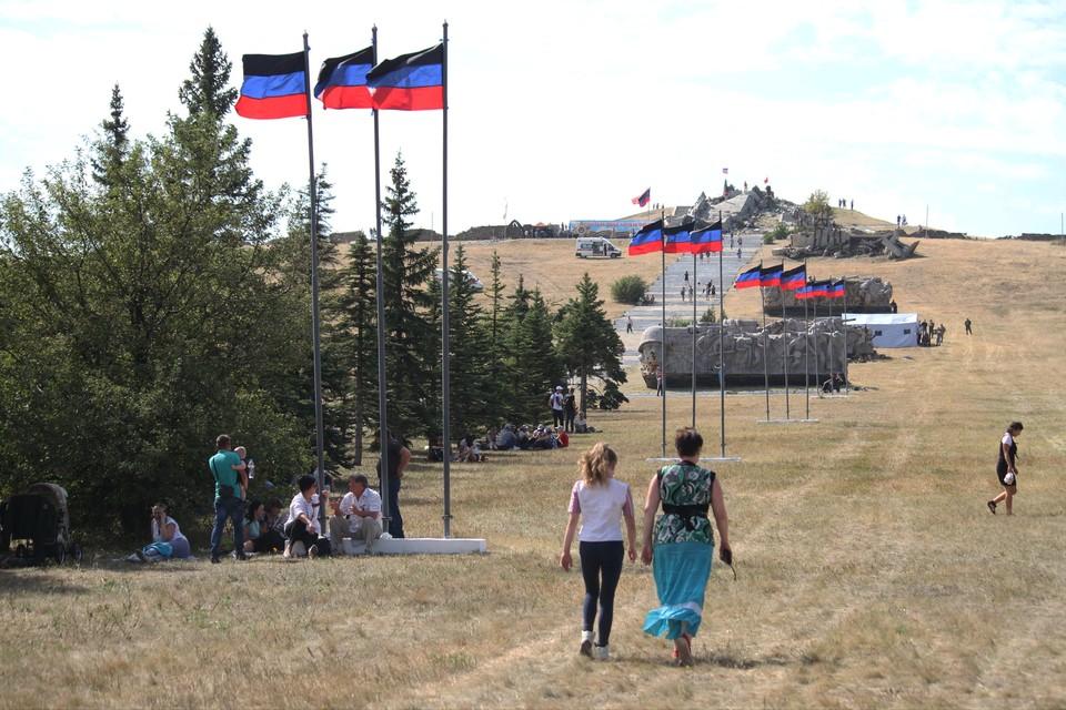 Саур-Могила, сентябрь 2020 г. Мероприятия, приуроченные к 77-й годовщине освобождения Донбасса от немецко-фашистских захватчиков.