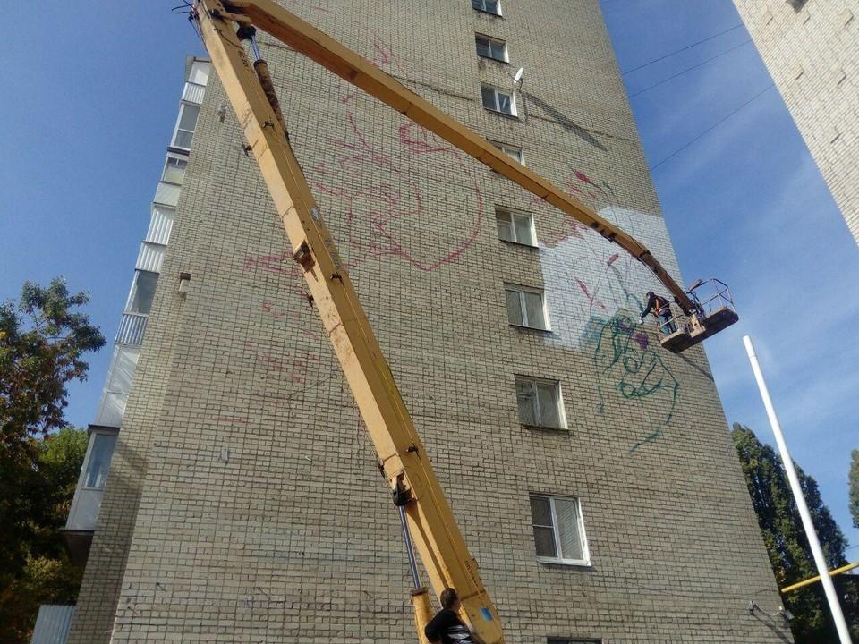 На доме №72/82 по улице Советская появится масштабное граффити