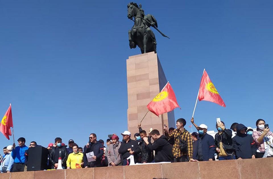 Несогласные с итогами парламентских выборов вышли на акцию протеста.