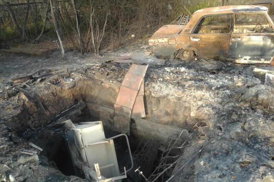 Смесь картины чернобыльских деревень с кадрами из конфликта на востоке Украины.