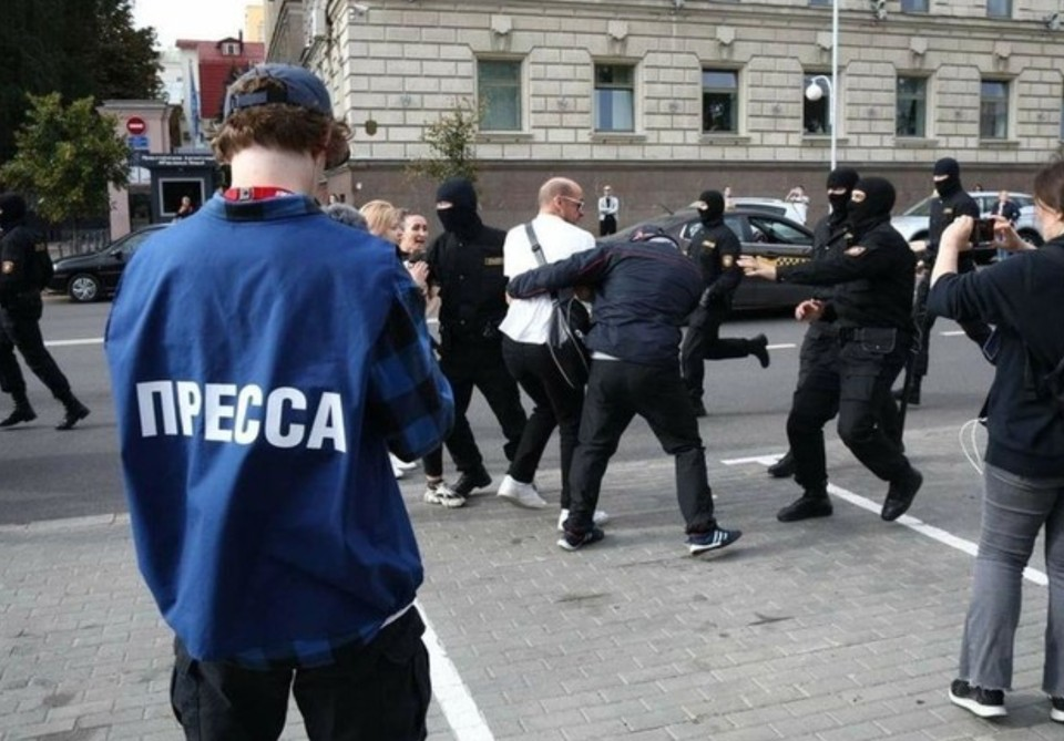В Минске были задержаны журналисты