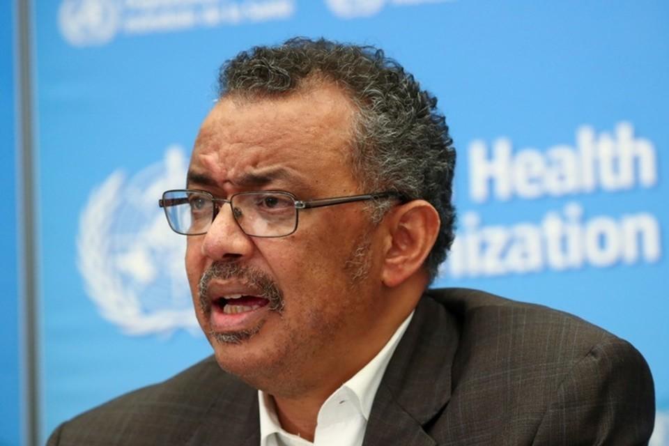 Глава Всемирной организации здравоохранения (ВОЗ) Тедрос Аданом Гебрейесус