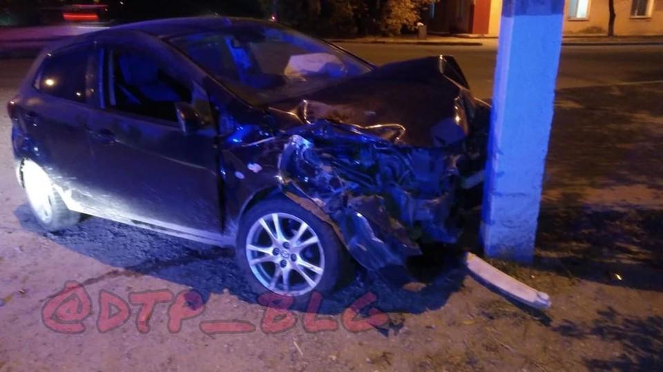 Авария произошла вечером 13 октября. Фото: www.instagram.com/dtp_blg/